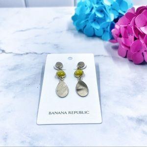 Banana Republic Yellow Drop Earrings - New! 🌼